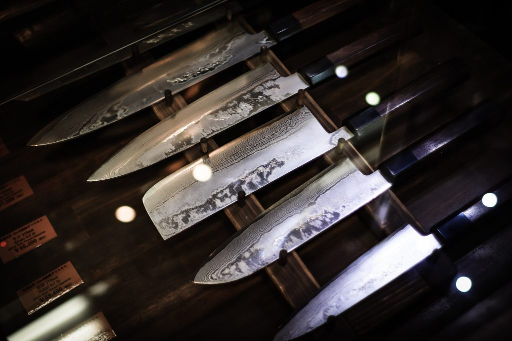 Urval av japanska knivar